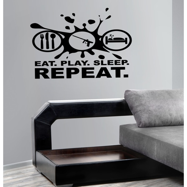 Eat Sleep Repeat Science Wall Art Sticker Decal