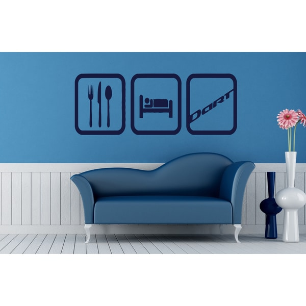 Eat Sleep Dance Wall Art Sticker Decal Blue