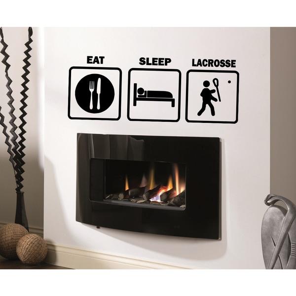 Eat Sleep Lacrosse Wall Art Sticker Decal