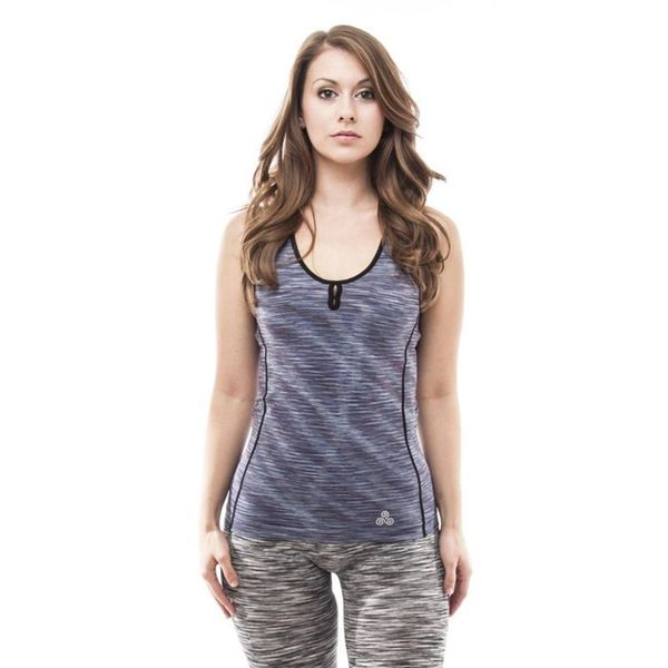Soho Navy Stretch Fit Racerback Sports Tank Top