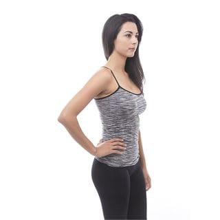 Soho Space Dye Seamless Sports Fitness Tank Top with Adjustable Strap