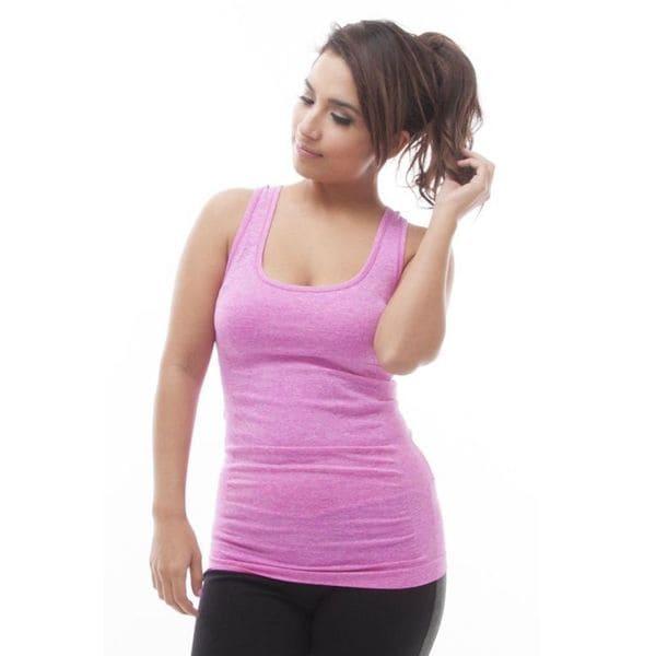 Soho Pink Sports Comfortable Yoga Tank Top 18094770