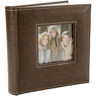 K&Company 2 Up Faux Leather Memo Photo Album Brown