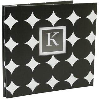 K&Company Monogram Post Bound Album 12inX12in Black Dot