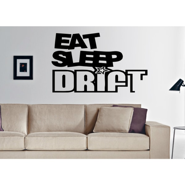 Eat Sleep Drift Wall Art Sticker Decal