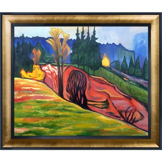 Edvard Munch 'From Thuringewald, 1905' Hand Painted Framed Canvas Art