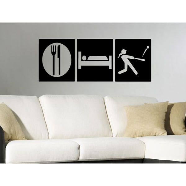 Eat Sleep Women's Golf Wall Art Sticker Decal