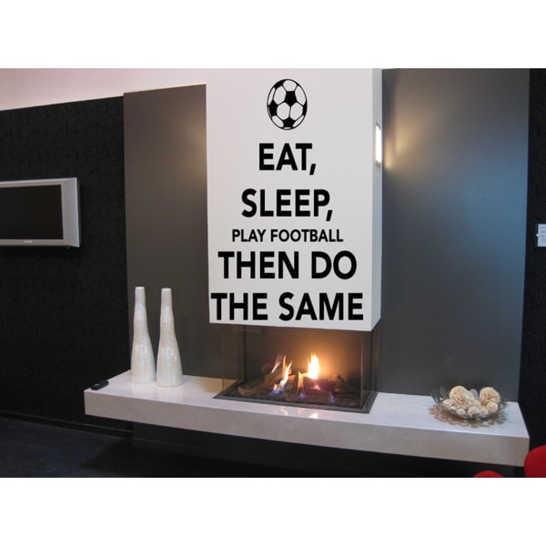 Eat Sleep Game Soccer Wall Art Sticker Decal