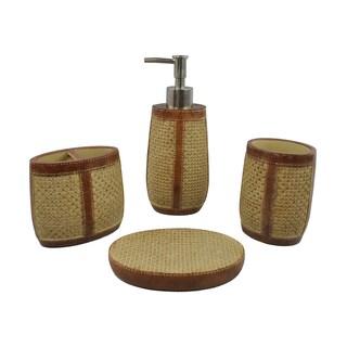 Sherry Kline Basket Weave 4-piece Bath Accessory Set