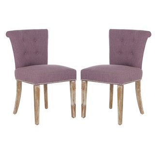 Better Living Lambert Rolled Back Dining Chairs in Lavender Linen (Set of 2)