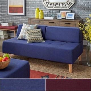 MID-CENTURY LIVING Soto Modern Upholstered Modular Chaise Loveseat