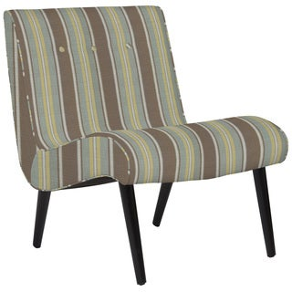 Better Living Hank Armless Chair in Grey Stripe