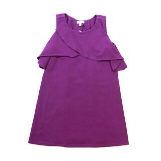 Girls' Asymmetrical Tiered Tank Top Summer Dress
