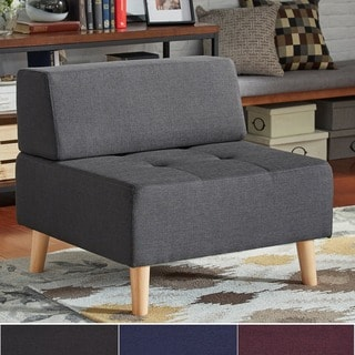 MID-CENTURY LIVING Soto Modern Upholstered Modular Ottoman Chair