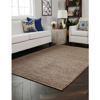 Kosas Home Handwoven Silver and Copper Braided Jute Rug (8' x 10')