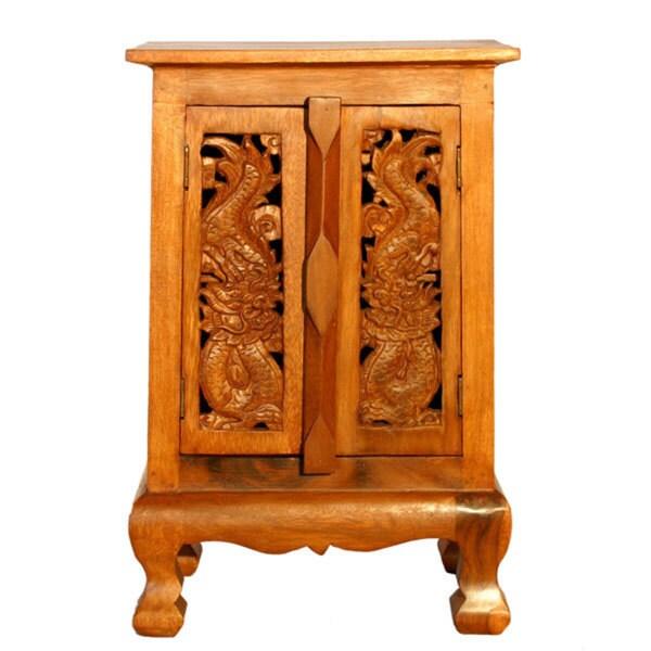 Oriental Dragon Storage Cabinet/ Nightstand (Thailand)
