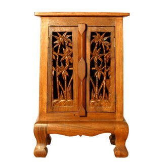 Coconut Palm Storage Cabinet/ Nightstand (Thailand)