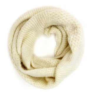 Dasein Fluffy and Chunky Infinity Scarf