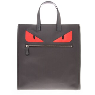 Fendi Monster-Creature Grey/ Red Tote