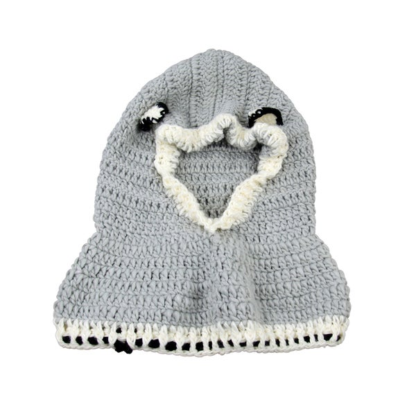 Toddler Grey Wolf Knitted Hooded Beanie