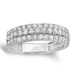 14k White Gold 1ct TDW Diamond Wedding Band Ring (H-I, I1-I2)