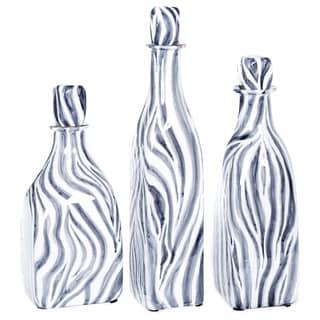 Glass Bottle with Stopper in Zebra