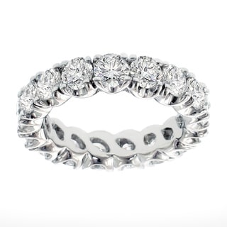 Platinum 4ct TDW Brilliant-cut Diamond Eternity Ring