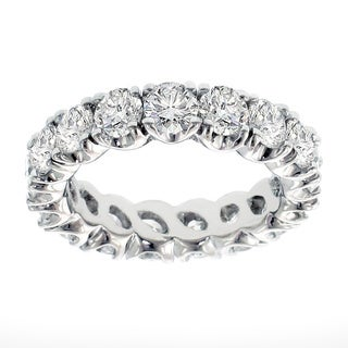 Platinum 3.05 - 3 4/5ct TDW Brilliant-cut Diamond Eternity Ring (G-H, SI1-SI2)