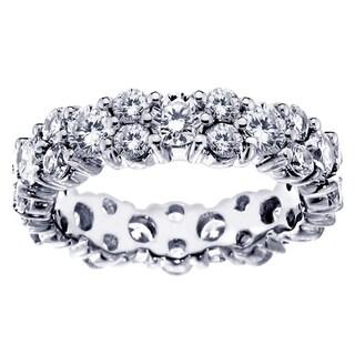 14k/ 18k White Gold 4 - 4 4/5ct TDW All Around Diamond Eternity Wedding Band (G-H, SI1-SI2)