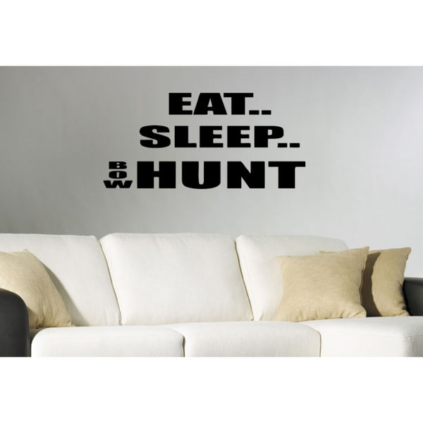 Eat Sleep Hunt Wall Art Sticker Decal