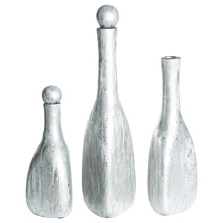 Bottles with Tops in Shimmering Dawn (Set of 3)