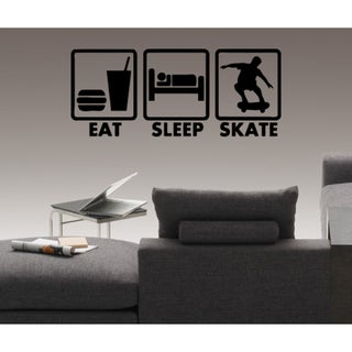 Eat Sleep Love Skate Wall Art Sticker Decal