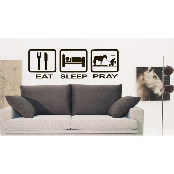 Eat Sleep Pray Wall Art Sticker Decal