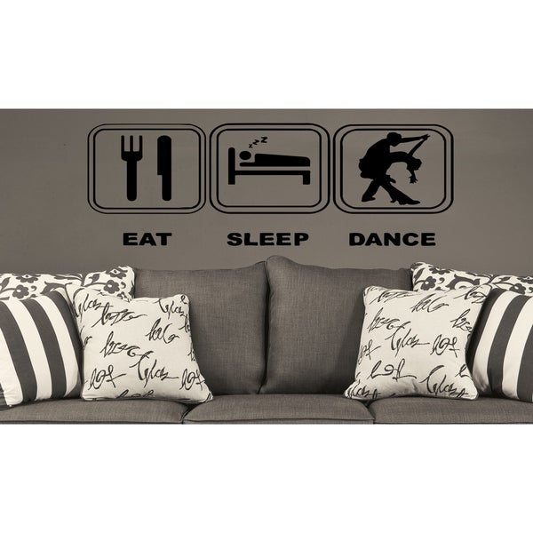 Eat Sleep Dance Wall Art Sticker Decal