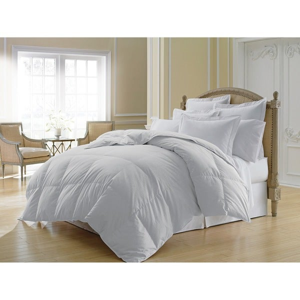Luxlen Grand Stripe White 500 Thread Count 600 Fill Power Goose Down Comforter