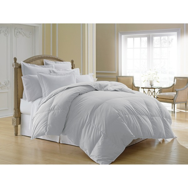 Luxlen Grand 500 Thread Count 600 Fill Power Stripe White Down Comforter