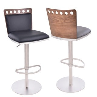 Dafiny Contemporary Adjustable Bar Stools Set Of 2