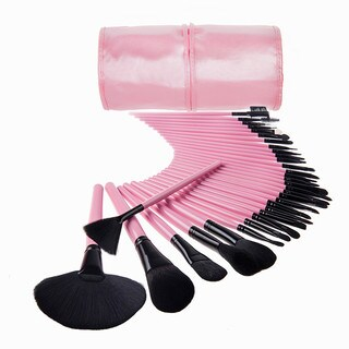 Bliss and Grace Professional 32-piece Makeup Brush Set with Handy Vegan Leather Travel Case