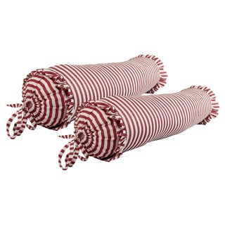 Sherry Kline Elizabethan Stripe Print Neckroll Pillow (Set of 2)