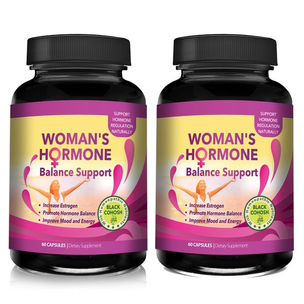 Woman's Hormone Body Balance and Menopause Support 1375mg Natural Herbal Supplement