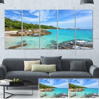Designart 'Summer Sea in Thailand' Landscape Photo Canvas Print