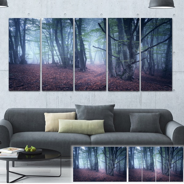 Designart 'Mysterious Fairytale Wood' Landscape Photo Canvas Print