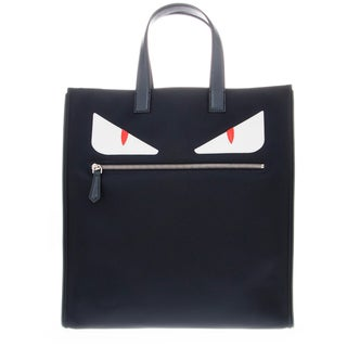 Fendi Monster-Creature Navy Tote