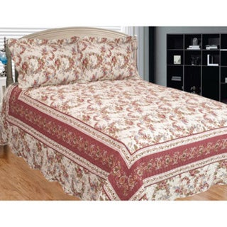 Old Rose Corona 3-piece Quilt Set