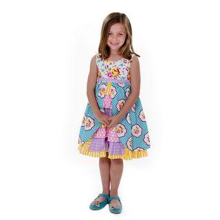 Jelly the Pug Girls' Hannah Sleeveless Round Neck Dress