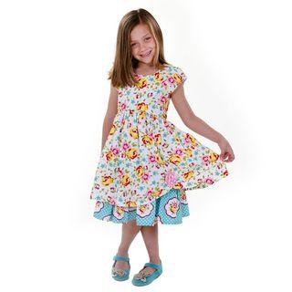 Jelly the Pug Girls' Katlin Sleeveless Round Neck Dress