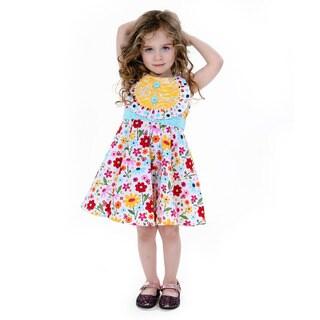 Jelly the Pug Girls' Priscilla Sleeveless Round Neck Dress