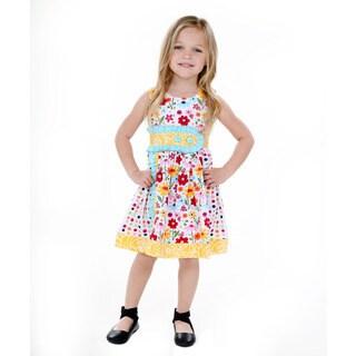 Jelly the Pug Girls' Sally Sleeveless Round Neck Dress