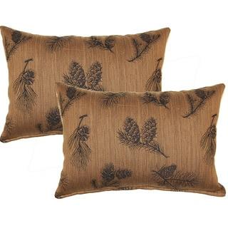Pine Cone Ridge Tobacco 12-inch Throw Pillows (Set of 2)