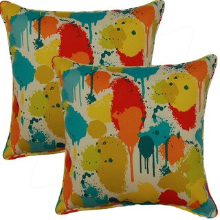 Neddick Confetti 17-inch Corded Throw Pillows (Set of 2)